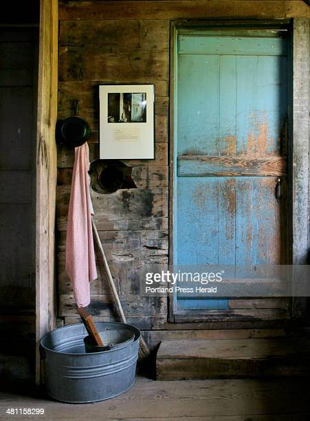 Staff Photo by Gregory Rec Friday June 6 2003 Andrew Wyeth painted this scene in the wood shed at the Olson House in 1968 a year after Christina and...