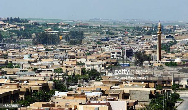 Staff photo by Gregory Rec Wednesday April 14 2004 The eastern edge of the city of Mosul seen from the roof of Saddam Hussein's former palace