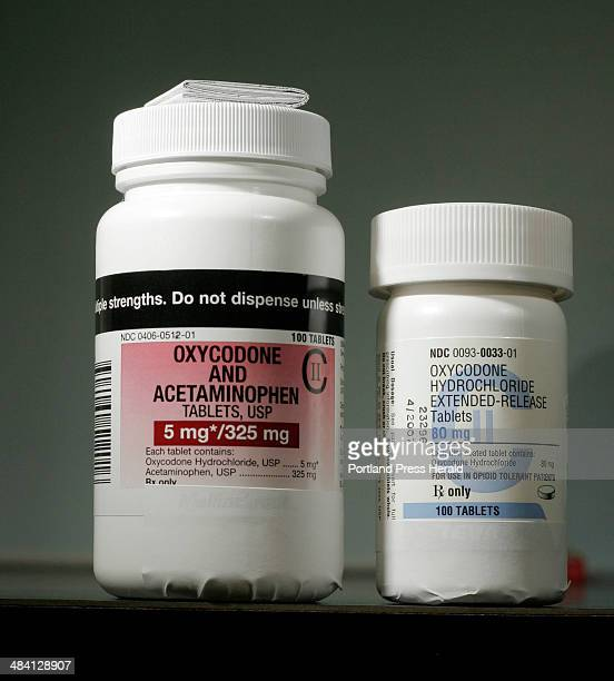 Staff photo by Gregory Rec Wednesday November 23 2005 Two drugs that have been sought after in recent pharmacy holdups oxycodone with acetaminophen...