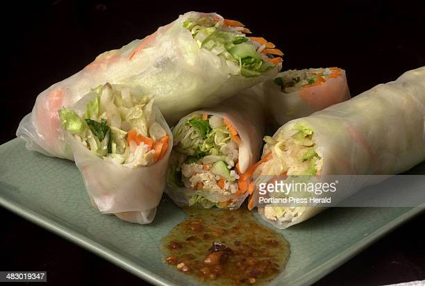Staff Photo by Herb Swanson Friday February 18 2005 Spring rolls for Chef Harry column