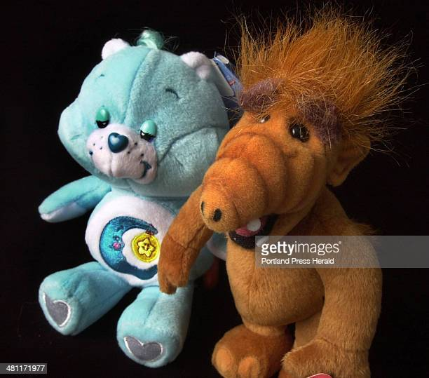 Staff Photo by John Ewing Fri Jan 24 2003 Small stuffed toys reminiscient of the 1980's television shows featuring the Care Bears and Alf are back in...