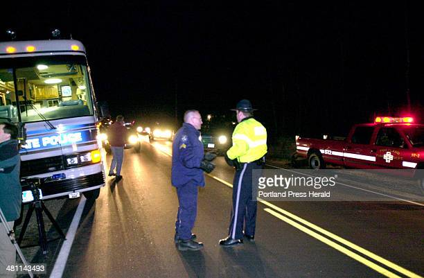 Staff Photo by John Patriquin Sat Dec 08 2001 Maine state police with Scarborough police and state game wardens found a body believed to be Amy...