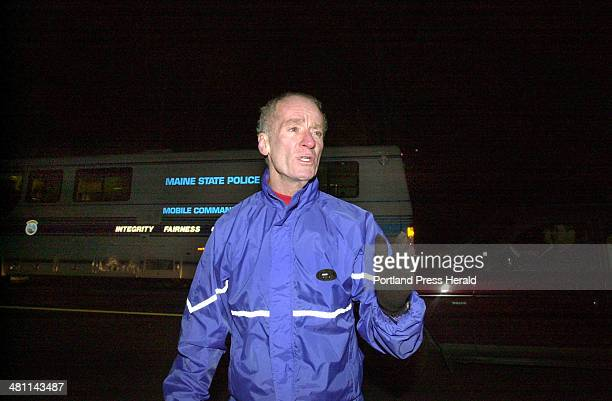 Staff Photo by John Patriquin Sat Dec 08 2001 Portland police chief Michael Chitwood confirms that searchers have found a body off Rt 22 in...