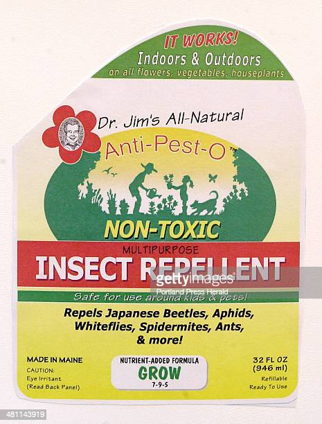 Staff Photo by John Patriquin Thursday March 14 2002 New insect repellent Antipesto created by Cape Elizabeth resident Jim White