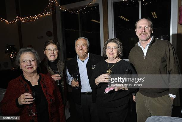 Barbara Gifford Helen Rotondo Joe Rotondo Germaine Blake and Todd Doolan all of Freeport at the Valentine's Wine and Chocolate Tasting put on by the...