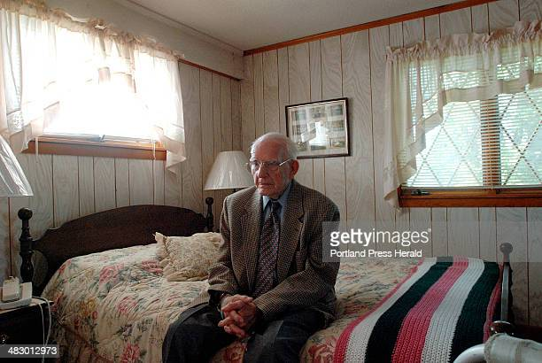 Staff Photo by Shawn Patrick Ouellette Wednesday May 31 2006 90yearold Howard Small whose home was invaded by two unknown men early Tuesday morning...