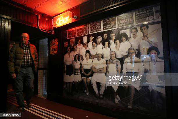 A staff photo dating back to the 1980's is displayed at the bar entrance at DurginPark in Boston on Jan 4 2019 DurginPark a centuriesold Boston...