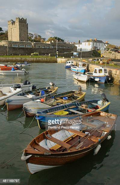 Staff photo Photo by John Ewing; 10/23/03; Fishing boats used by local lobstermen remain moored in Bulloch Harbour in the coastal town of Dalkey...