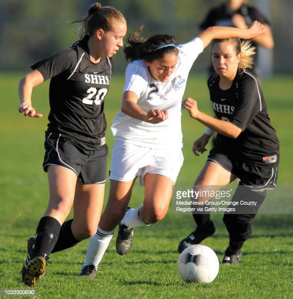 SCOTT VARLEY Chadwick girls soccer lost 10 to Sunny Hills in the CIFSS Div III quarterfinals Chadwick's Channing Press works her way between Hayley...