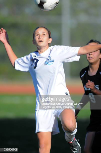 SCOTT VARLEY Chadwick girls soccer lost 10 to Sunny Hills in the CIFSS Div III quarterfinals Allegra Levy leaps for a header