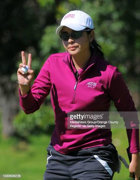 SCOTT VARLEY Final round of the Northrop Gruman Regional Challenge NCAA golf tournament at the Palos Verdes Golf Club Tournament winner Juliana...