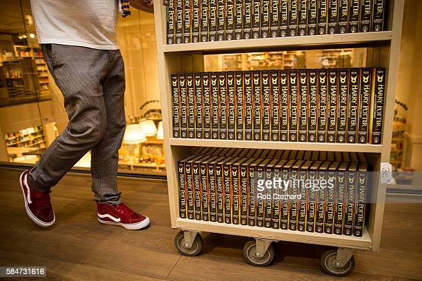 Staff prepare to sell copies 'Harry Potter and the Cursed Child' at Foyles book store on July 30 2016 in London England The script book of the play...