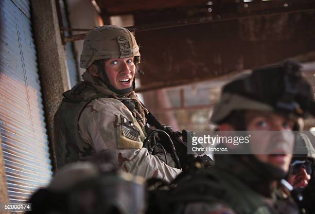 Staff Sergeant Darrill Griffen of the 1st Battalion 5th Infantry Stryker Brigade Combat Team of the 25th Infantry Division out of Ft Lewis Washington...
