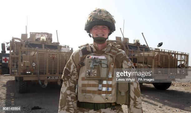 Staff Sergeant Julie Dick part of 3 Medical Regiment from Dumfies Scotland at Camp Bastion in Helmand Province Afghanistan