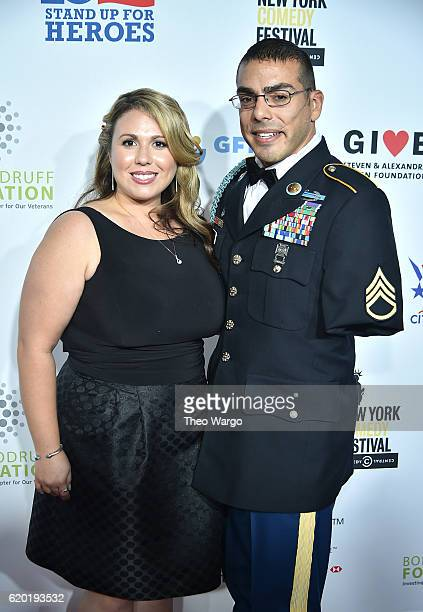 Staff Sergeant US Army Michael Kacer and Jessica Schulman attends 10th Annual Stand Up For Heroes at The Theater at Madison Square Garden on November...