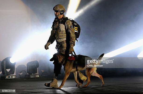 Staff Sgt August ONiell arrives during the Opening Ceremony of the Invictus Games Orlando 2016 at ESPN Wide World of Sports on May 8 2016 in Orlando...