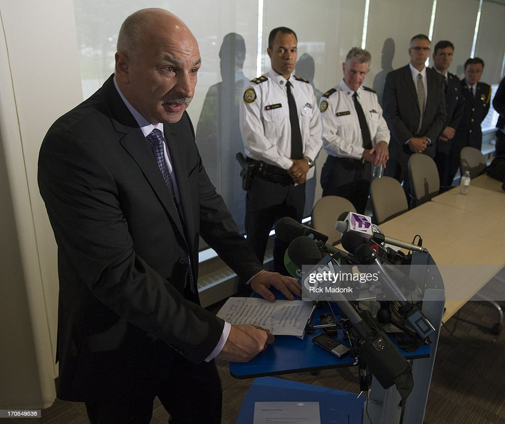 Staff Supt Jim Ramer speaks to the media about Project Traveller, a year long investigation into guns and drugs in the city's north west section. Money and guns were shown to the media at 23 Division this morning after yesterday's raids. Toronto Police launched a massive predawn raid On June 13, 2013, as part of Project Traveller, targeting guns and drugs, and focusing on the Toronto neighbourhood that is ground zero for the Mayor Rob Ford crack video scandal.