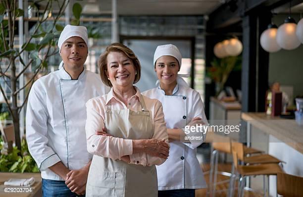 Staff working at a restaurant