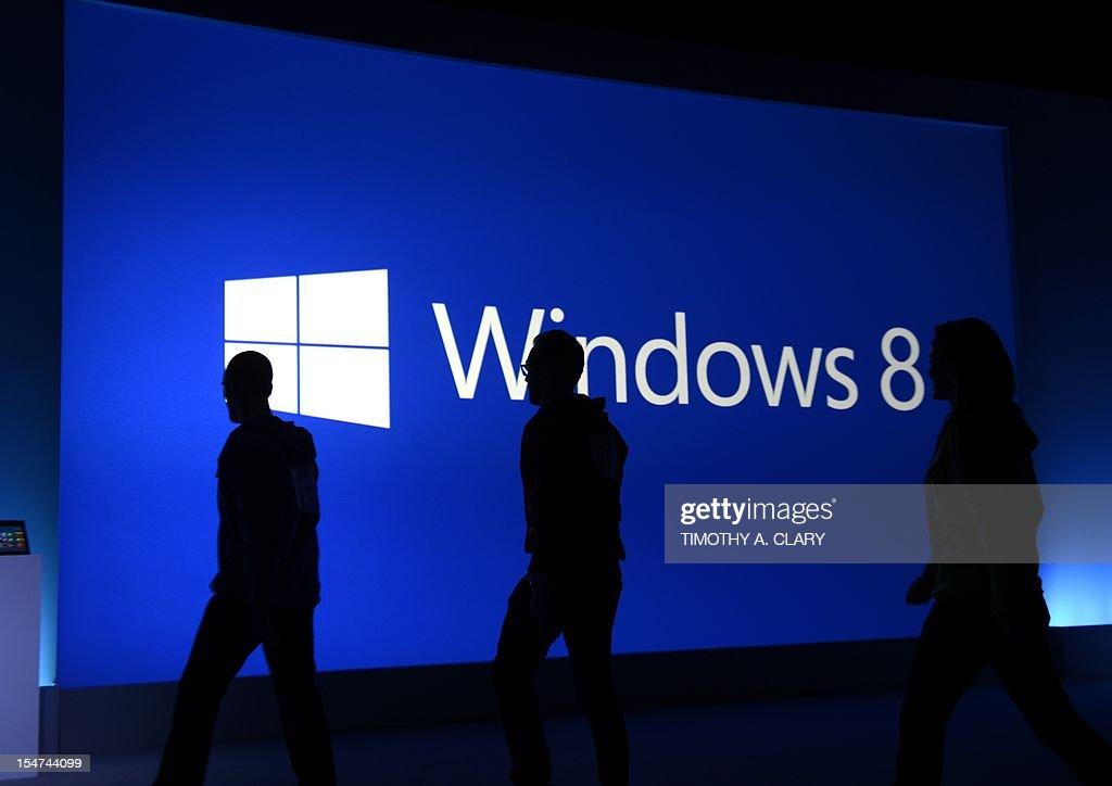 US-IT-MICROSOFT-WINDOWS 8 LAUNCH : News Photo