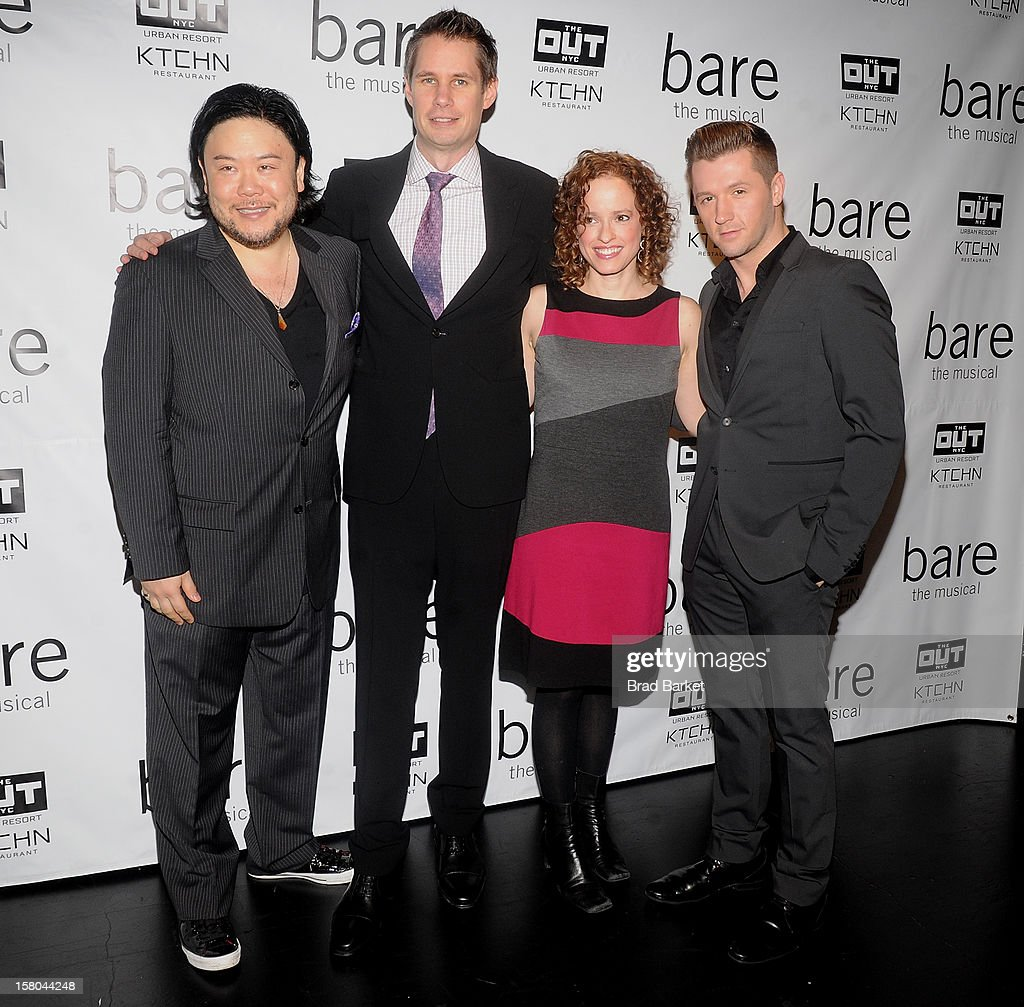 Stafford Arima, Jon Hartmere, Lynn Shankel and Travis Will attend 'BARE The Musical' Opening Night at New World Stages on December 9, 2012 in New York City.