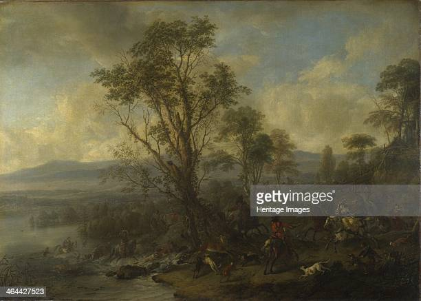 A Stag Hunt ca 1665 Found in the collection of the National Gallery London
