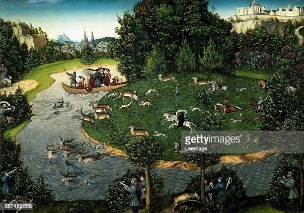 Stag Hunt of Friedrich III the Wise of Saxony Painting by Lucas Cranach the Elder Kunsthistorisches Museum Vienne