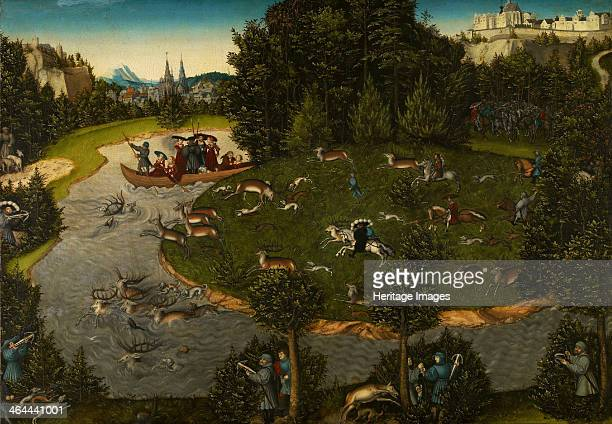 Stag Hunt with the Elector Frederick the Wise 1529 Found in the collection of the Art History Museum Vienne
