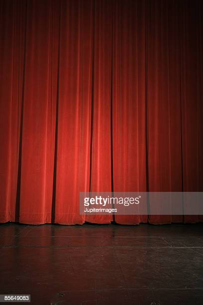 Stage and curtains