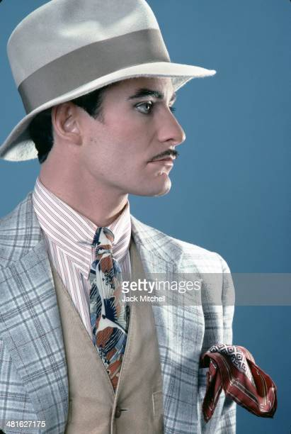 Stage and film actor Kevin Kline photographed in costume for 'On the Twentieth Century' in 1978 for which he won the Tony Award for Best Featured...