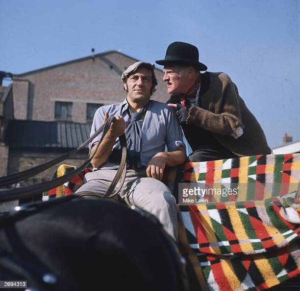 Stage and screen actors Harry H Corbett and Wilfrid Brambell stars of the British television comedy series 'Steptoe and Son'