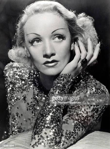 Stage and Screen Cinema Personalities pic circa 1930's German born film actress Marlene Dietrich who later became an American citizen Marlene...