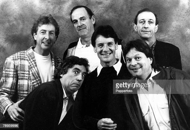 Stage and Screen Entertainment Personalities pic 1989 The stars of the cult comedy TV programme of the 1970's 'Monty Python's Flying Circus' back row...