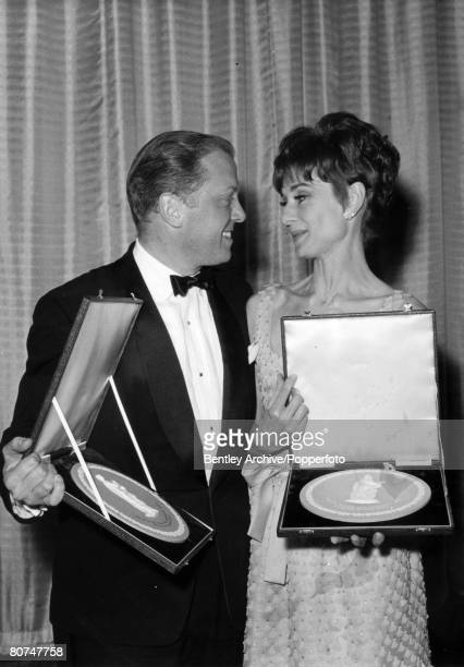 Stage and Screen Personalities London pic 31st March 1965 The awards for Best Actress and Best Actor went to Richard Attenborough and Audrey Hepburn...