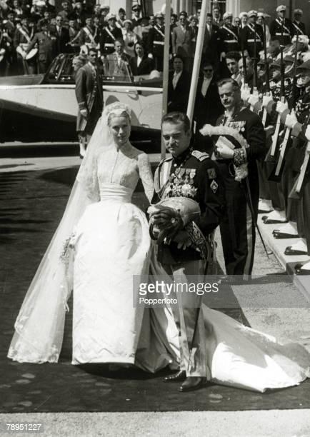 18th April 1956 American actress Grace Kelly marries Prince Rainier of Monaco Grace Kelly born in Philadelphia was a cool elegant beauty who starred...