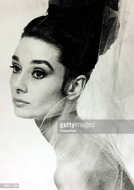 1957 Actress Audrey Hepburn poses for a publicity shot Audrey Hepburn born in Brussels a truly international star from a cosmopolitan background...