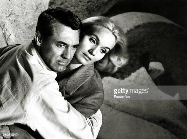 1959 Actor Cary Grant and Eva Marie Saint in a scene from the film North By Northwest British born American actor Cary Grant portrait described as...