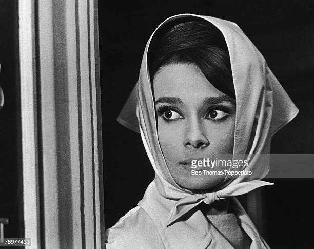 1963 Actress Audrey Hepburn portrait as she appeared in the film 'Charade' Audrey Hepburn born in Brussels a truly international star from a...