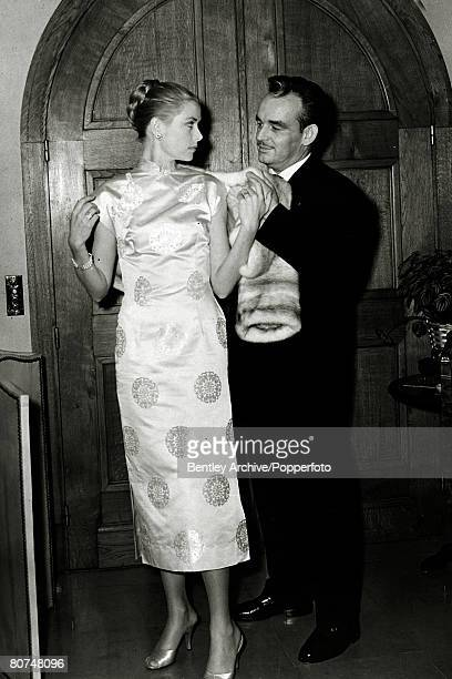 April 1956 American actress Grace Kelly and Prince Rainier of Monaco close to the time they were to be married Grace Kelly born in Philadelphia was a...