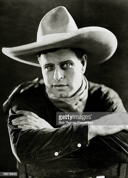 circa 1925 American actorJack Hoxie as he appeared in the film 'Hidden Loot' Jack Hoxie was a a silent film star playing in cowboy films