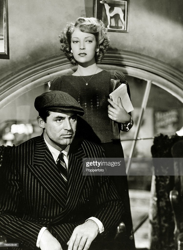 """Stage and Screen. Personalities. pic: circa 1945. Actor Cary Grant appearing alongside actress June Duprez. British born, American actor Cary Grant, portrait (1904-1986) described as the """"epitome of the elegant leading man"""" ,usually playing the sophistica : News Photo"""
