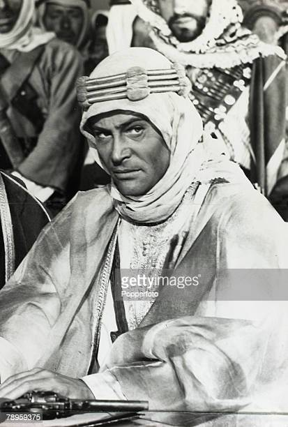 """Stage and Screen, Personalities, pic: circa 1962, Irish born actor Peter O'Toole as he appeared in the film """"Lawrence of Arabia"""""""