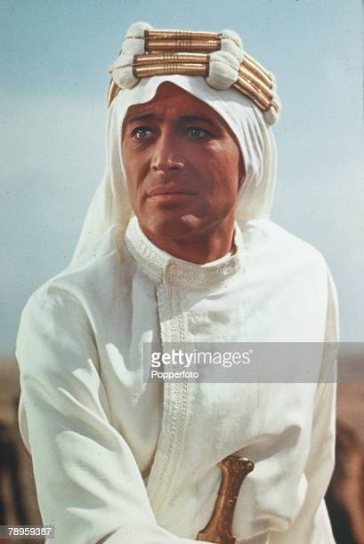 "Stage and Screen, Personalities, pic: circa 1962, Irish born actor Peter O'Toole as he appeared in the film ""Lawrence of Arabia"""