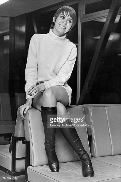 March 1969 British actress Judy Carne born 1939 who found fame in the American show Rowan and Martin's Laugh In 19681973