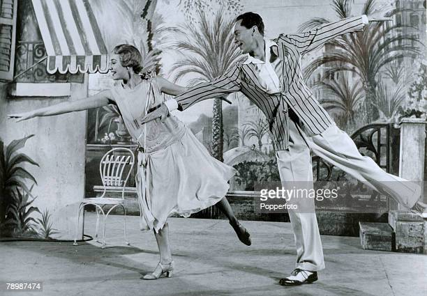 1954 Musical The Boyfriend at the Embassy Theatre London Anne Rogers playing Polly and Anthony Hayes in the role of Tony in a dance routine