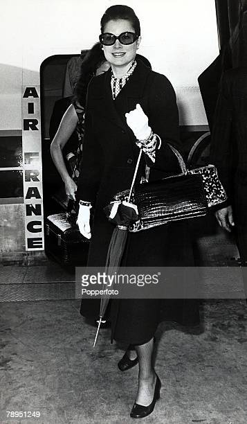 Stage and Screen Royalty Personalities pic 16th June 1970 Princess Grace of Monaco arriing at London's Heathrow Airport on a private visit The former...