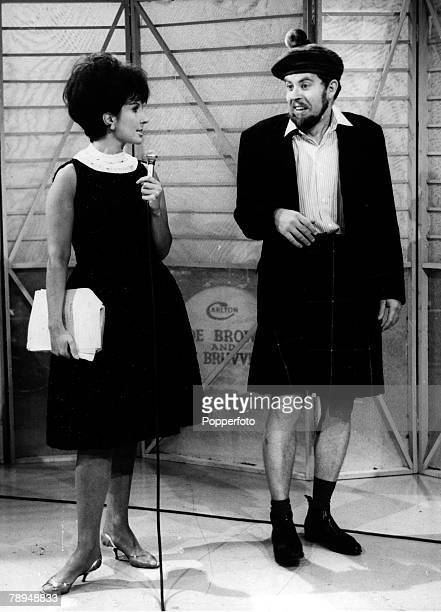 Stage and Screen Television Personalities pic 1963 Australian born entertainer Rolf Harris with singer Alma Cogan together for a television show Rolf...