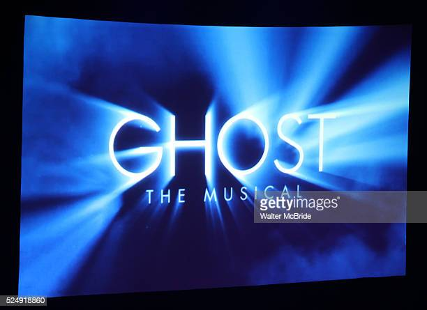 Stage at The 'Ghost the Musical' Ghost Light Sessions at the LuntFontanne Theatre in New York on 1/19/2012