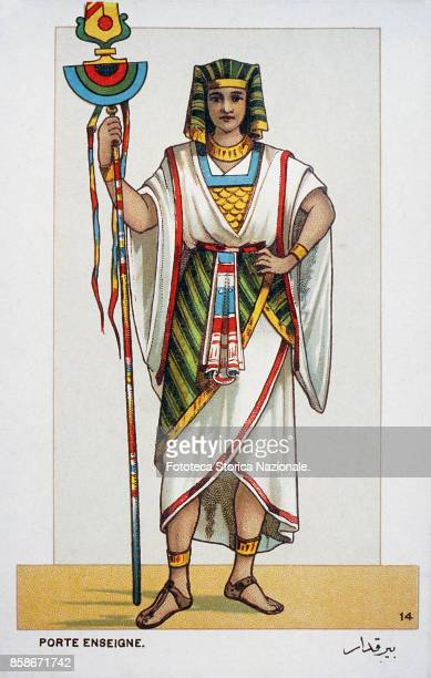 Stage costume of a bearer of the regalia character from 'Aida' the Opera by Giuseppe Verdi and Antonio Ghislanzoni From a series of 24...