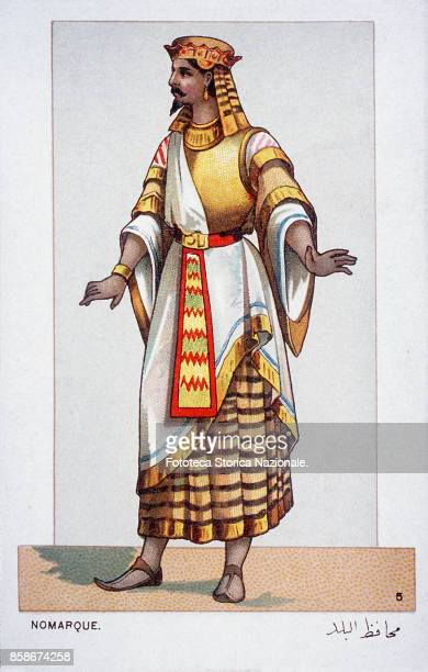 Stage costume of a Civil employee character from 'Aida' the Opera by Giuseppe Verdi and Antonio Ghislanzoni From a series of 24 chromolitographs...