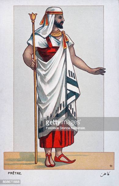 Stage costume of a Clergyman character from 'Aida' the Opera by Giuseppe Verdi and Antonio Ghislanzoni From a series of 24 chromolitographs...